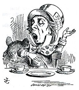 Mad Hatter depicted by Sir John Tenniel